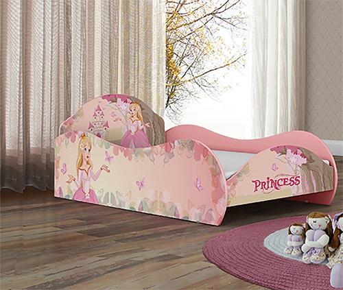 cama solteiro infantil princesa encantada rosa menina