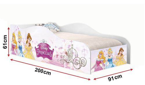 cama solteiro princesas, cama para menina, moveis infantis