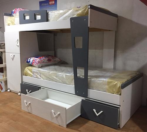 cama superpuesta con cajones y escritorio (mar del plata)