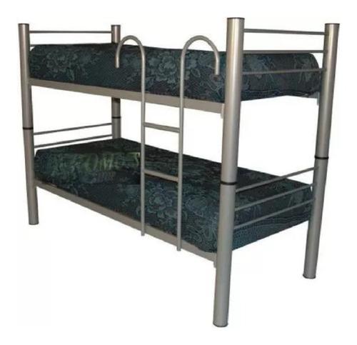 cama superpuesta cucheta caño 3  mas 2 colchones 190x80x17