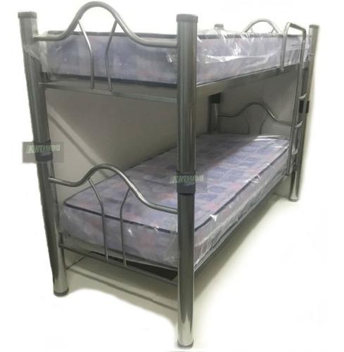 cama superpuesta cucheta caño 3 pulgadas desmontables kromos