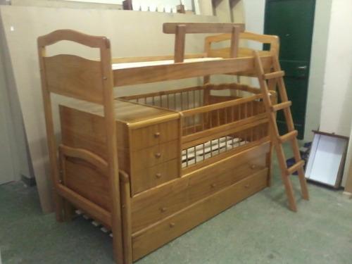 cama superpuesta funcional con cajones y carrocama mas baule