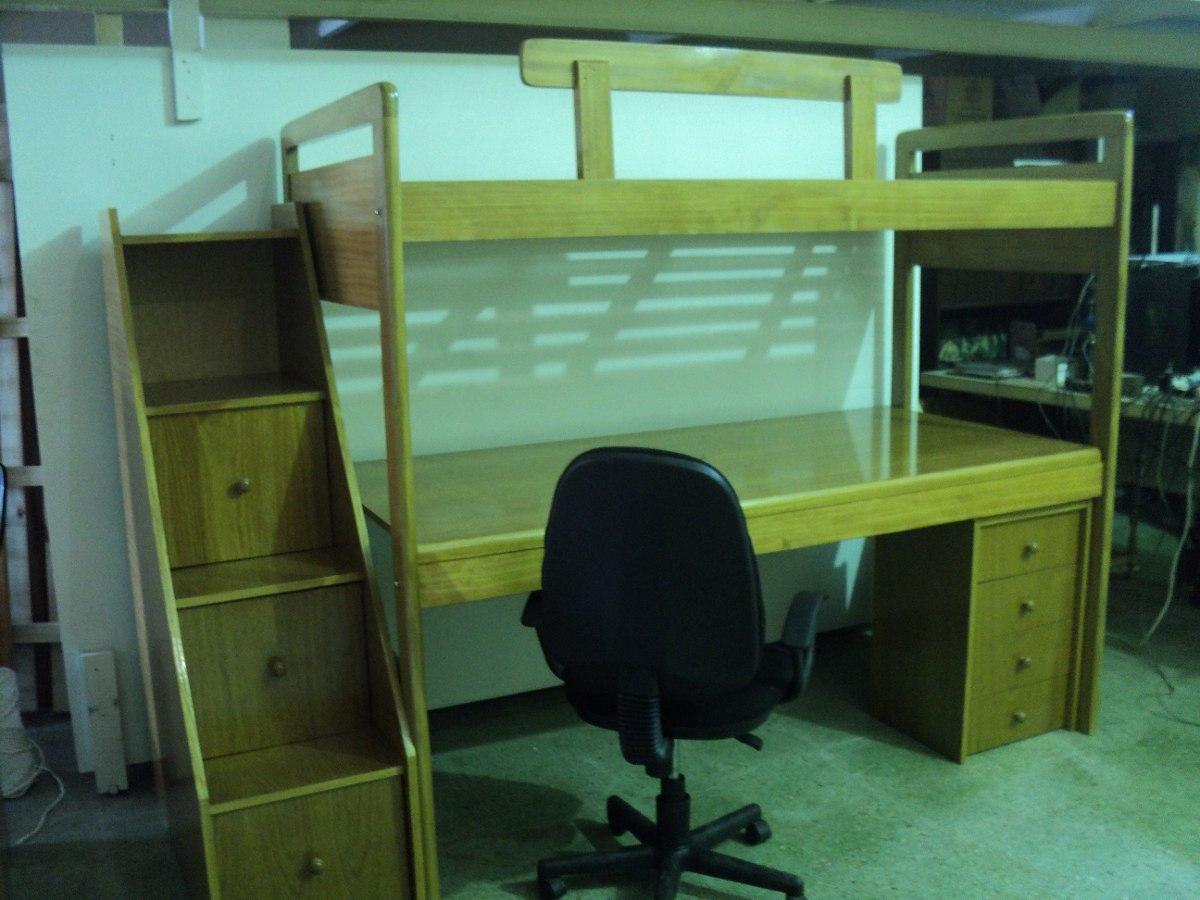 Cama con mueble debajo cama a medida oculta en un mueble for Cama puente con escritorio