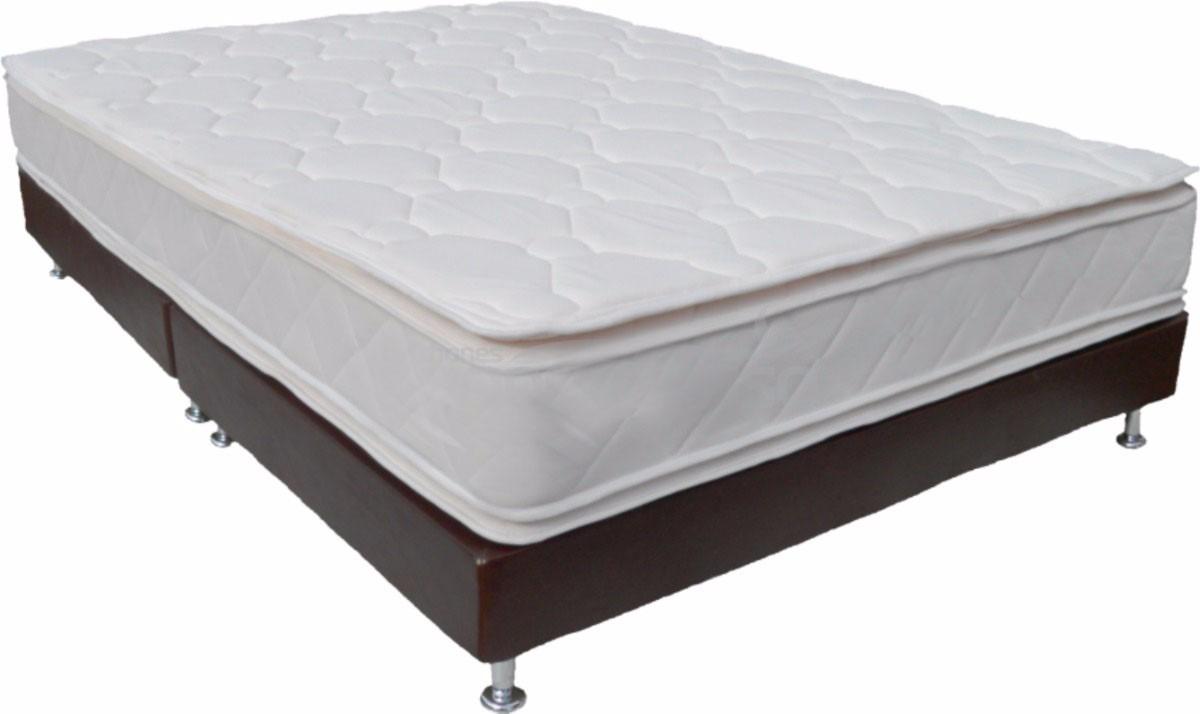 Cama tipo base colchon pillow top doble almohadas for Colchon cama doble medidas