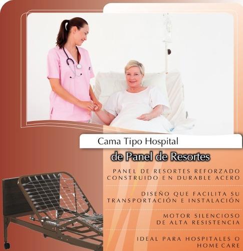 cama tipo hospital hospitalaria electrica 3 motores