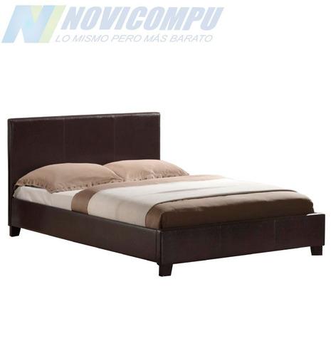 cama torino de cuero lineal de dos plaza full