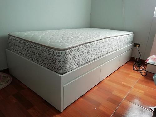 cama tres cajones plaza y media de melamina