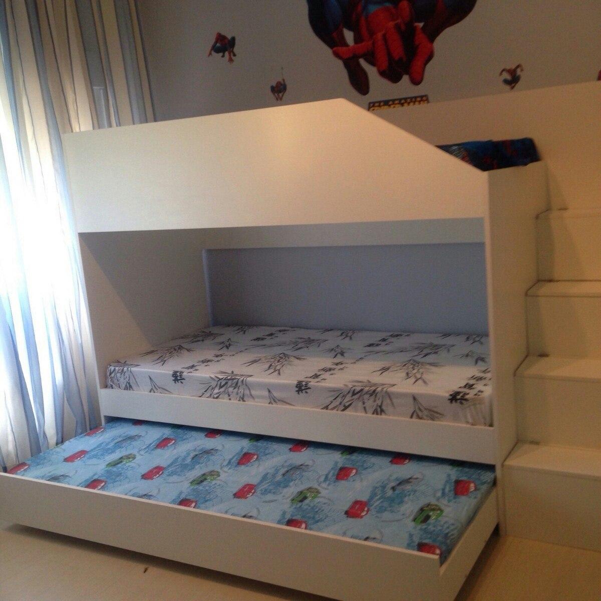 Cama tricama beliche infantil branca r em mercado livre - Dibujos para cabeceros de cama ...