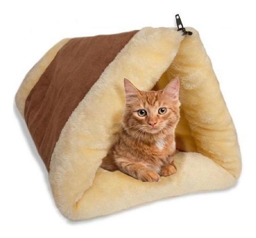cama tunel convertible para gato oxgord tela suave comoda