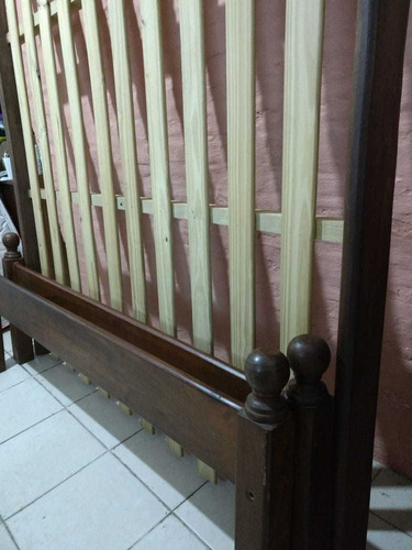cama turca de algarrobo 1.40 x 1.90mts con 6 patas
