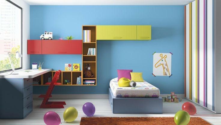 Cama Una Plaza Media Dormitorio Escritorio Repisas Dj 011 - US$ 950,00 en Mer...