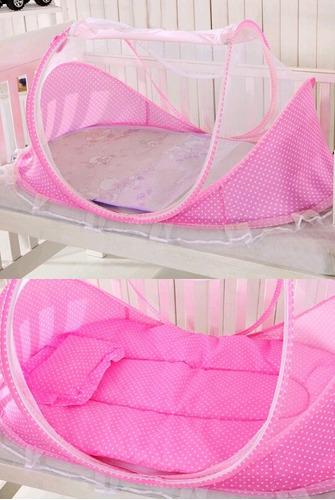 cama viajera - mosquitero plegable y portatil (6 piezas)