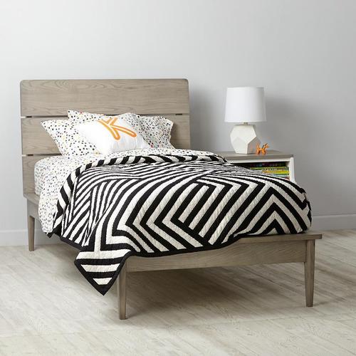 cama victoria individual gris adolescentes - madera viva