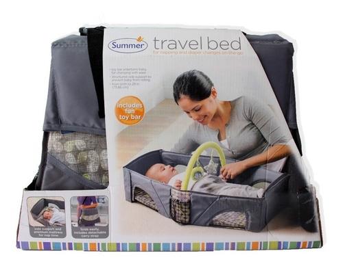 cama y cambiador 2 en 1 para bebe practico travel bed