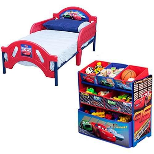 Cama y juguetero infantil para ni o de cars 2 - Cama infantil cars ...
