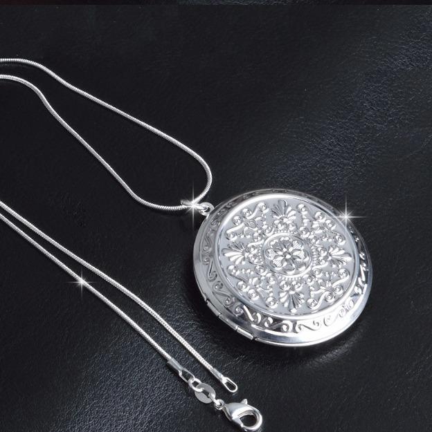 b6ce3cf7d6e3 Camafeo Grande Modelo Medallón Cadena Plata Relicario -   15.000 en ...
