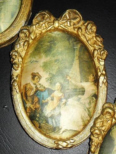 camafeo marco cuadro dorado antigüos 20x14 precio unitario