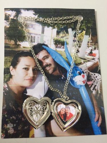 camafeo/collar d corazon con foto personalizado regalo novia