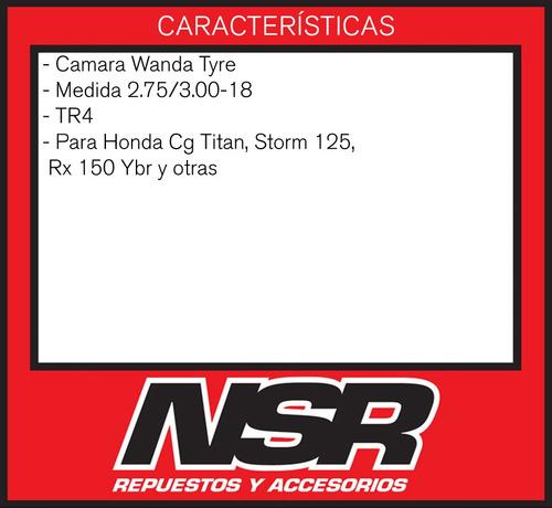 camara 275/2.75 18 honda cg titan storm 125 rx 150 ybr nsr