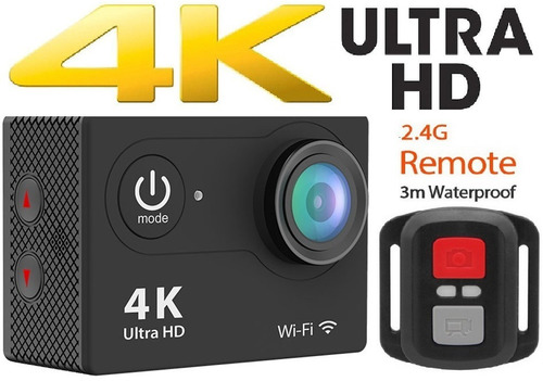 camara 4k, deportiva ultra hd+control remoto, wifi hdmi pro.