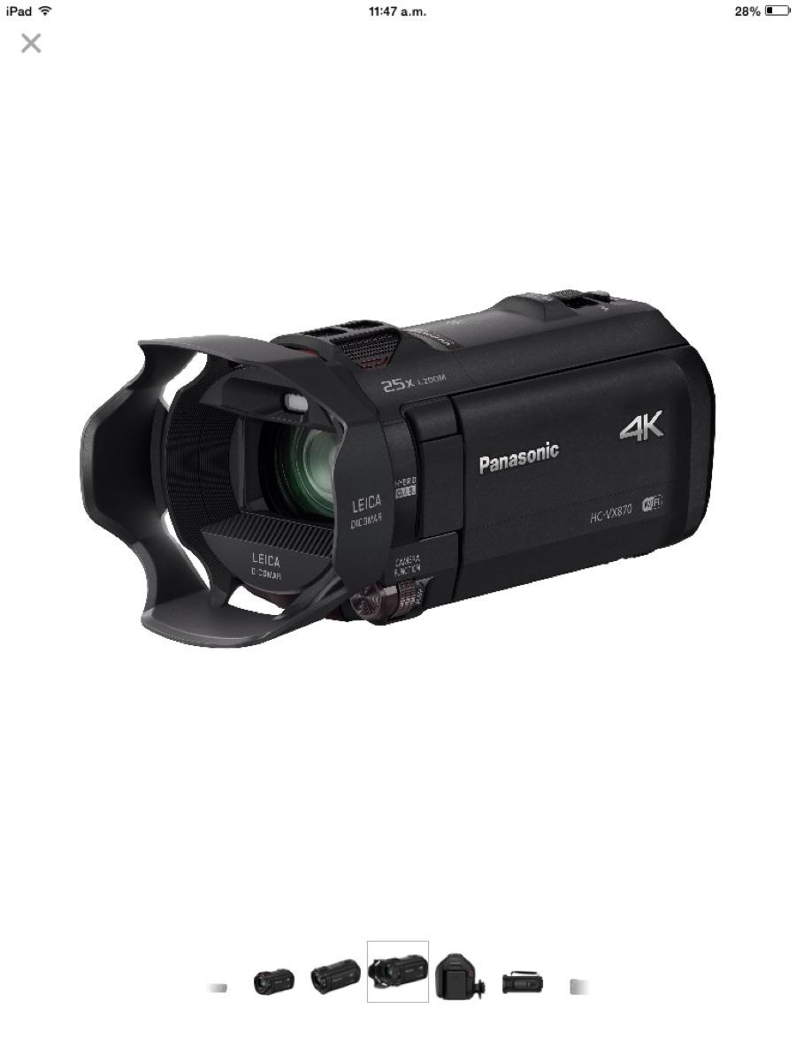 Cámara 4k Panasonic Hc-vx870 Ultra Hd, 240 Fps Súper Rapida ...