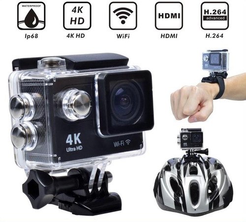 camara 4k ultrahd de acción /wifi /16mp, tipo go pro hero 5.