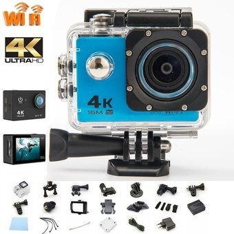 cámara 4k wiffi waterproof 16mp + accesorios gopro sj9000