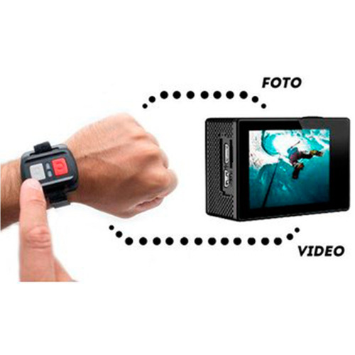 cámara 4k wifi control + aquapod + micro sd 16gb clase 10