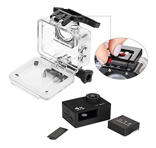 cámara accióm wifi control (2 baterías + micro sd 16gb c10)