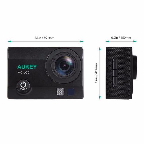 camara accion extrema aukey 4k waterproof wifi 12mp