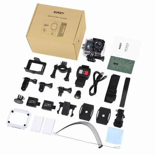 camara accion extrema aukey 4k wifi 12mp accesorios gopro