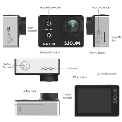 camara accion sjcam sj7 star full hd 4k real 2018  original