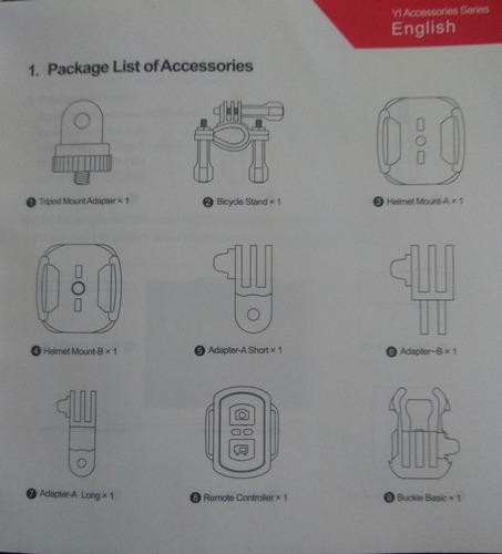 cámara accion yi xiaomi discovery 4k kit carcasa accesorios