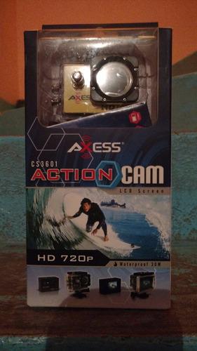 camara actioncam axess hd720p sumergible + accesorios nueva!