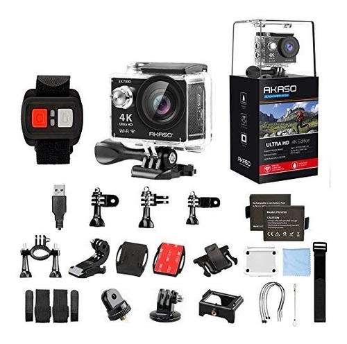 cámara akaso ek7000 4k - wifi ultra hd12mp (negro)