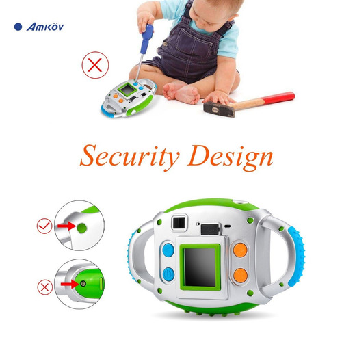 cámara amkov para niños, cámara a color tft