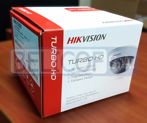 cámara análoga hd ds-2ce56c0t domo hikvision 720p (1280*720)