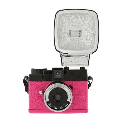 camara analoga lomographic diana mini con flash nueva rosa