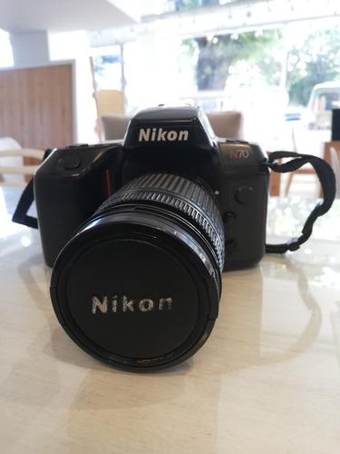 cámara analógica nikon n70 + lente 28-80 mm + filtro uv