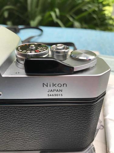 cámara analógica nikon nikkormat el con lentes de 28 y 200mm