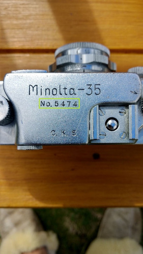 camara antigua minolta 35 japon ocupado 1947