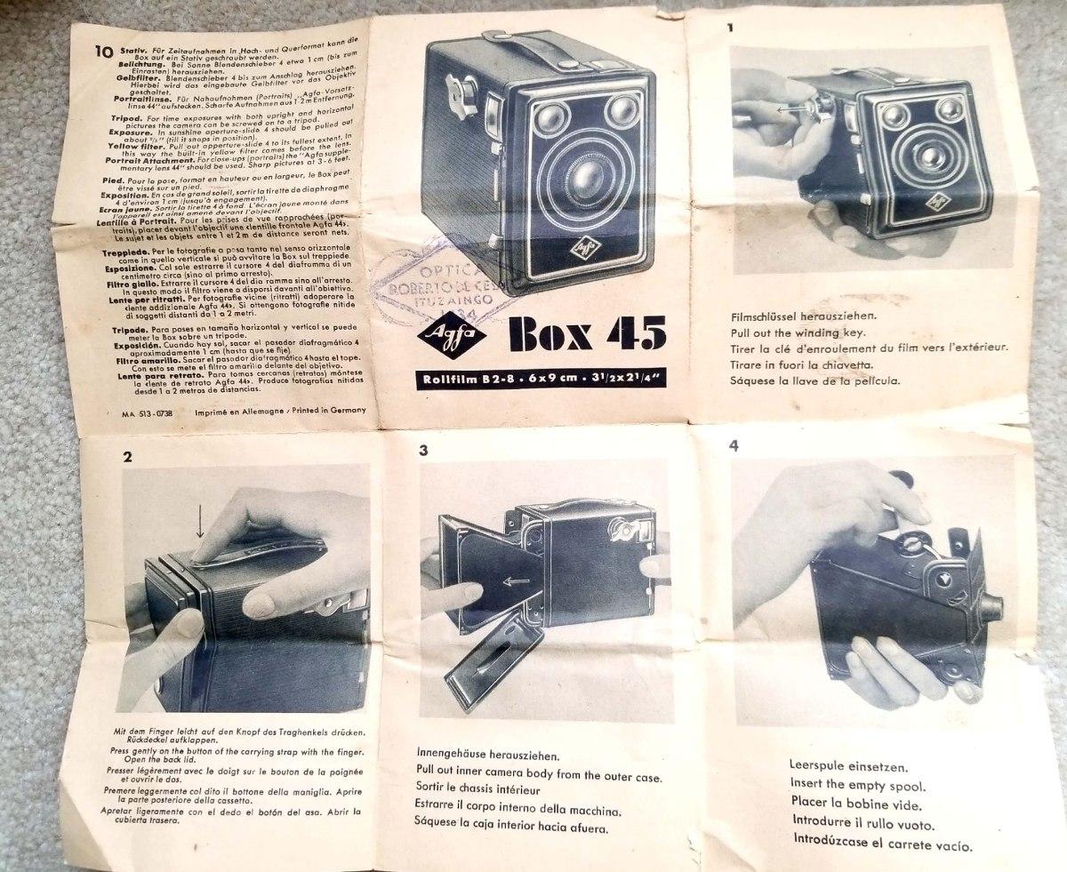 Cámara Art Decó Vintage De Colección Afga Box Isochom B2 - $ 1.300 ...