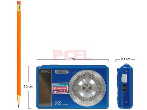camara benq + 16 mpx + zoom 5x + video hd + blue + new