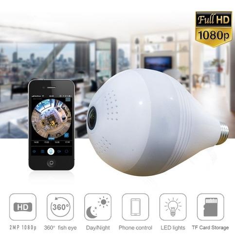 camara bombillo espia 360 microfono wifi