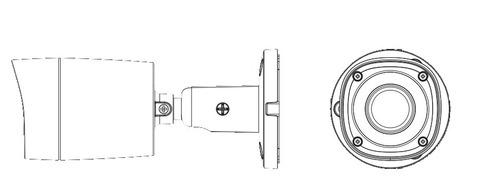 cámara bullet dahua hdcvi hfaw1220rm28 2 mega pixeles