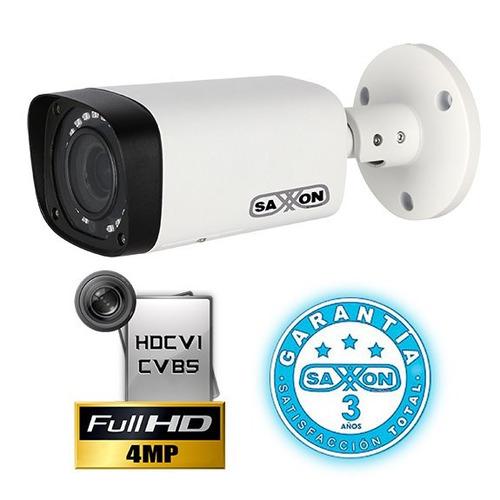 cámara bullet hdcvi 4 mega pixeles saxxon pro bvf3640me
