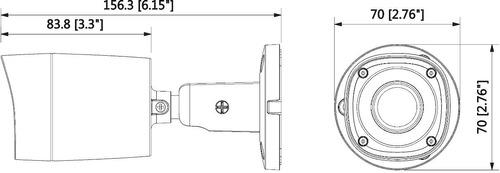 camara bullet hdcvi 720p exterior saxxon bf2810t  + baluns