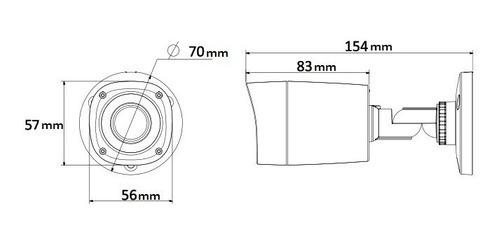 camara bullet hdcvi 720p infrarroja exterior cctv dahua 1mp