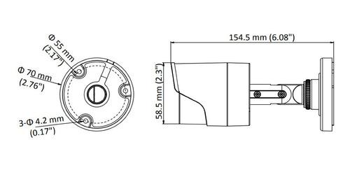 camara bullet metálica hikvision 4en1 full hd 2ce16d0t-if