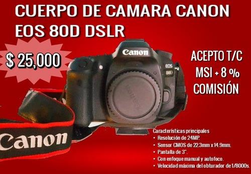 camara canon 80d eos